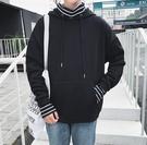 FINDSENSE Z1 日系 時尚 潮 男 時尚 假兩件 連帽 高領口罩 長袖