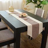 新中式禪意棉麻桌旗現代簡約茶幾餐桌裝飾布長條北歐式床尾巾家用    提拉米蘇