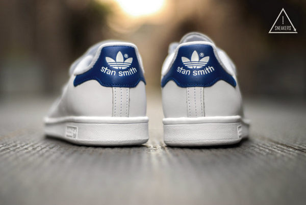 ISNEAKERS Adidas Originals STAN SMITH CF 三葉草藍 史密斯 魔鬼氈 S80042