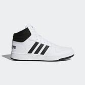Adidas Hoops 2.0 Mid Neo [BB7208] 男鞋 運動 休閒 籃球 基本 穿搭 愛迪達 白黑