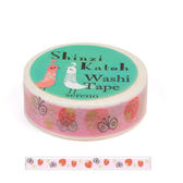★funbox生活用品★《Shinzi Katoh 加藤真治》和紙膠帶15mm(草莓園)_ZI02875