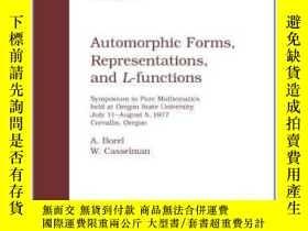 二手書博民逛書店Automorphic罕見Forms, Representations, And L-functions-自守形式