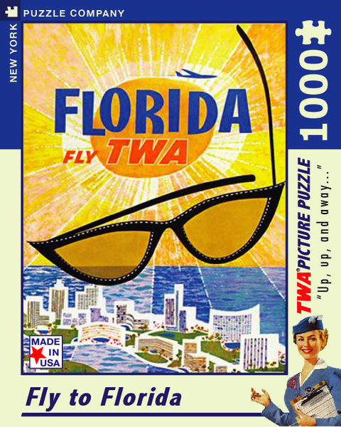【KANGA GAMES】拼圖 飛往佛羅里達 Fly to Florida 1000片