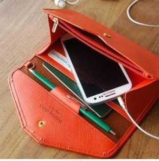 現貨-韓版信封設計手機包/錢包/收納包