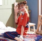 夏季睡衣睡衣女夏季短袖長褲純棉薄款韓版春秋  【低價爆款】