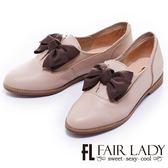 【Fair Lady】中性美蝴蝶結樂福鞋(杏)