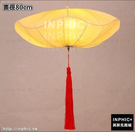 INPHIC-新創意中式餐廳酒店客房吊燈 客廳茶樓走廊荷葉吊燈-直徑80cm_S3081C