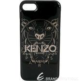 KENZO 3D Tiger iPhone 7 虎頭圖案塑料手機殼(黑色) 1720409-06