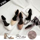 包鞋.細踝帶方頭高跟包鞋(棕、黑)-FM時尚美鞋-訂製款.Lazy