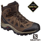 Salomon 男 AUTHENTIC LTR GTX 中筒登山鞋 黑棕 L39466800【GO WILD】