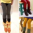 *╮小衣衫S13╭*全棉針織毛線拼接羽絨紗靴褲  1041142
