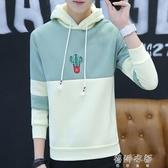 棒球服男士韓版修身青少年情侶連帽衫加絨連帽T恤潮男裝外套 蓓娜衣都