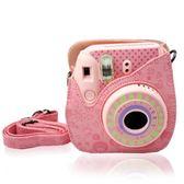 相機套 拍立得相機 mini8/mini9相機包 moc嫩粉色皮革包 相機保護袋【韓國時尚週】