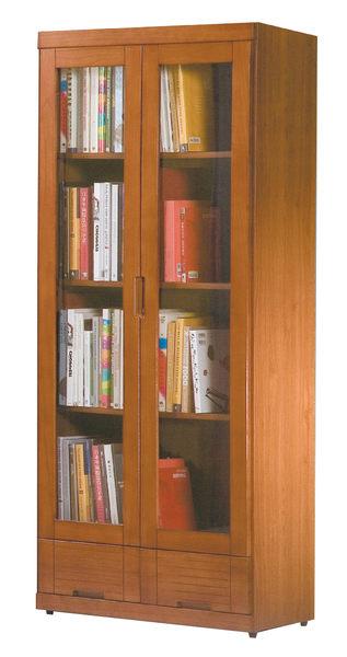 【森可家居】凱西柚木色2.7尺下抽書櫃(單只) 8HY368-02 展示櫃 日式無印風 MIT台灣製造