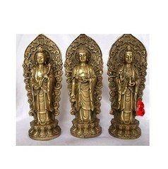 開光銅西方三聖佛像 阿彌陀佛 觀音菩薩 大勢至菩薩