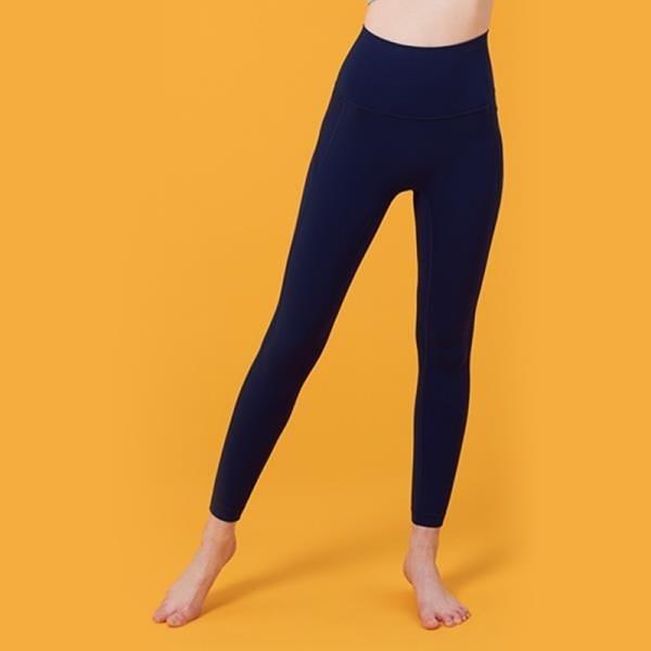 【南紡購物中心】【VITASTYLE】ARZE涼感瑜珈褲_深藍色