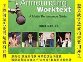 二手書博民逛書店Broadcast罕見Announcing Worktext Third Edition: A Media Per