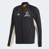 L- adidas VRCT JACKET 男裝 外套 立領 休閒 拼接 拉鍊口袋 黑 米色 EA0372