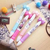 PGS7 日本迪士尼系列商品 - 日本迪士尼 蝴蝶結 雙色 原子筆 造型筆 雙色筆【SHJ6520】