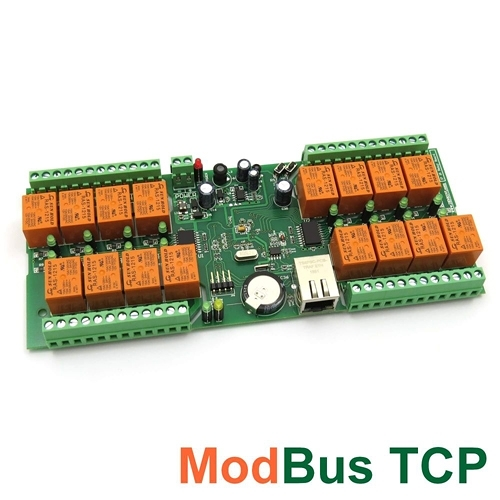[2美國直購] denkovi 中繼板 smartDEN Modbus TCP Ethernet 16 Relay Board smartDEN IP-16R-MT-12V-PCB