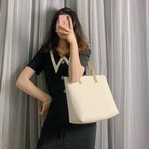 手提包 大包包女2019新款潮韓版百搭單肩包大容量學生托特包簡約手提女包