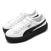 Puma 休閒鞋 Platform Trace L Wns 白黑 厚底 鬆糕鞋 女鞋 【ACS】 36610902
