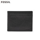 FOSSIL NEEL 黑色真皮多卡兩折短夾 ML3899001