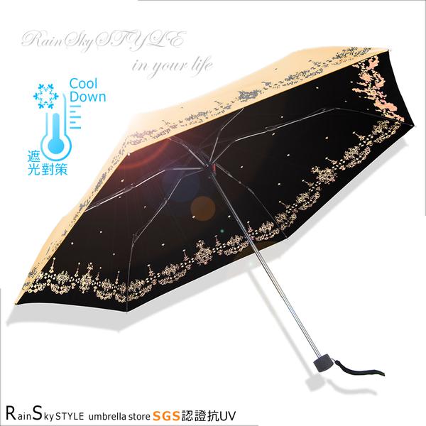 【超輕鈦金】蒲公英雙絲印-抗UV晴雨傘 /傘 抗UV傘 折疊傘 自動傘 洋傘 陽傘 大傘 黑膠傘防風潑水