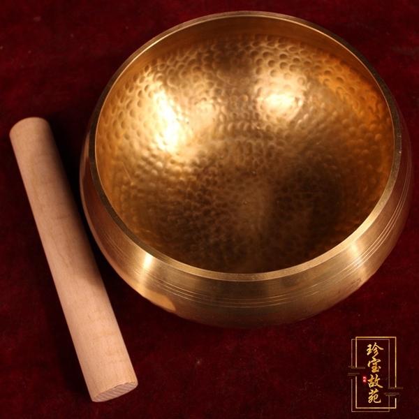 古玩熱賣仿古銅器銅碗純銅純手工打造加厚音缽碗仿西