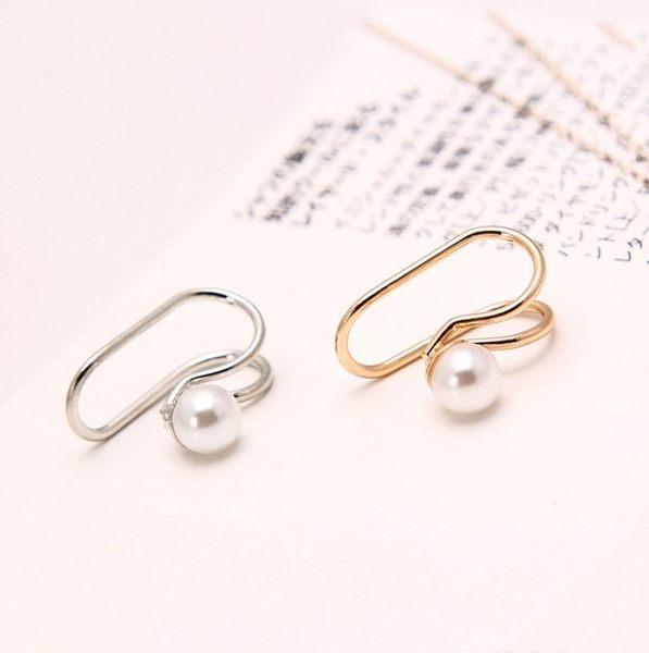 韓版 飾品 女款 可愛 百搭 耳環 單鑽 星星 耳釘 耳夾 無耳洞 假耳飾 U型 耳骨夾