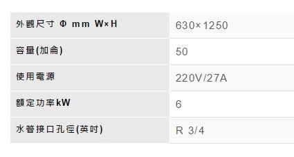 【歐雅系統家具】林內 Rinnai 電熱水器 REH-5064(50加侖)