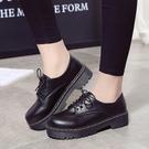 紳士鞋女皮鞋女學生韓版潮夏英倫學院風女鞋鬆糕中跟女單鞋 貝芙莉