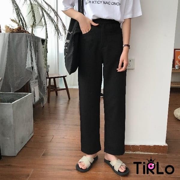 寬褲 -Tirlo-西裝料挺版寬褲-兩色/ML