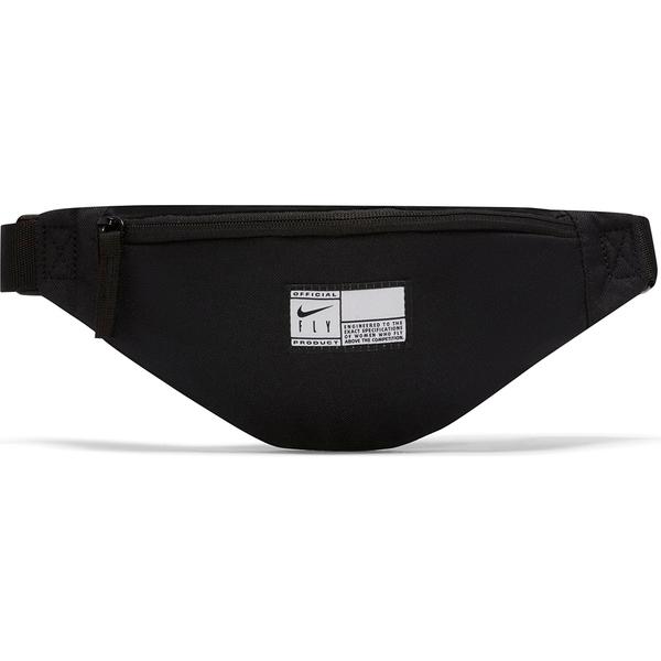 Nike Heritage Swoosh 側背包 腰包 黑底白標 黑【運動世界】DA2275-010
