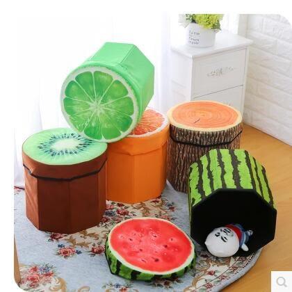 時尚創意收納絨布水果凳SJ1012『時尚玩家』