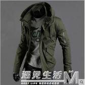 春秋軍綠色夾克男士軍裝外套韓版修身薄款上衣棒球服休閒男裝   遇見生活