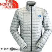 【The North Face 男 ThermoBall 暖魔球 保暖外套 灰白】 C939/暖魔球外套★滿額送
