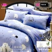 北極熊摯愛【薄床包】6*6.2尺/加大/ 御芙專櫃/防瞞抗菌/精梳棉/三件套