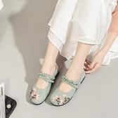 古裝鞋 漢服鞋子兒童女童古風繡花鞋新款平底平跟公主鞋學生表演出鞋 星河光年