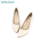 Bo Derek 氣質OL嚴選尖頭高跟鞋-米色