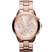 【台南 時代鐘錶 Michael Kors】MK5778 羅馬時標三眼計時腕錶 玫瑰金 42mm