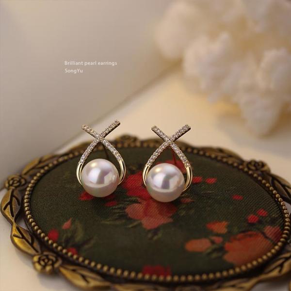 珍珠耳釘女 夏季輕奢高級感大氣耳環 新款潮韓國氣質網紅耳飾