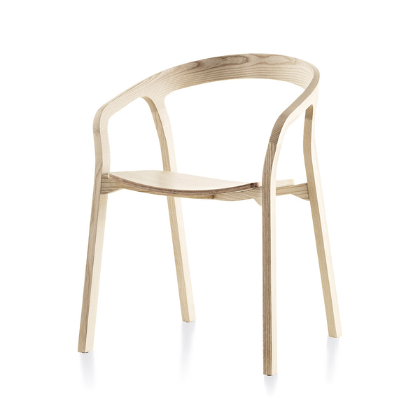 義大利 Mattiazzi MC1 She Said Wooden Armchair 她說 木質扶手椅(白色梣木)