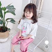 韓系粉紅果子七分袖上衣 T恤 短袖上衣 童裝 上衣