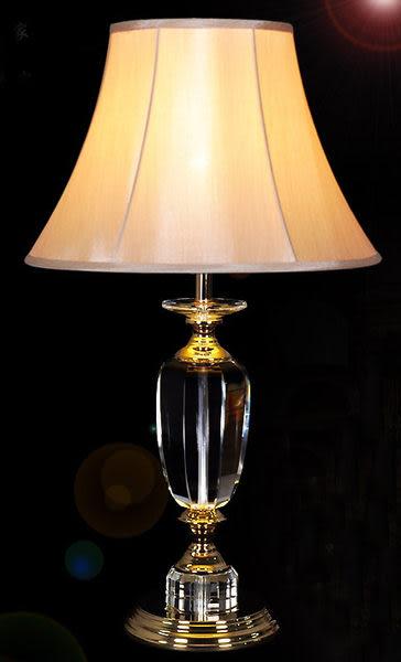 歐式新古典水晶檯燈復古款五金喇叭款121751通販屋