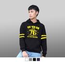 【男人幫大尺碼】T1640*台灣製造美式風格數字76連帽大學T