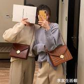 chic包包女復古質感簡約菱格鏈條2019新款韓版百搭單肩斜挎小方包  -享家生活館