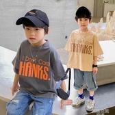 男童短袖T恤2020年夏季中大童上衣寬鬆純棉韓版夏裝兒童半袖洋氣
