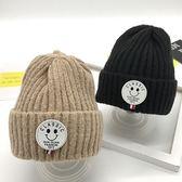 嬰兒帽寶寶帽子秋冬季 男童6-12個月1-3歲女童保暖冬天針織毛線帽套頭潮