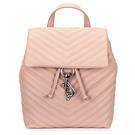Rebecca Minkoff EDIE斜縫紋皮革抽繩束口手提後背包(粉色)220083-1